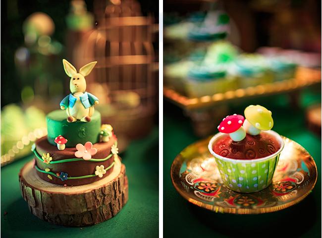 婚礼甜品台就派上大用场了,一块甜甜的糖或者造型可爱的小蛋糕可以